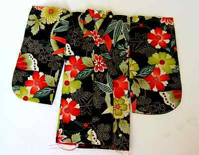 Japanese Handsewn Cotton Doll Kimono - Tropical Paradise