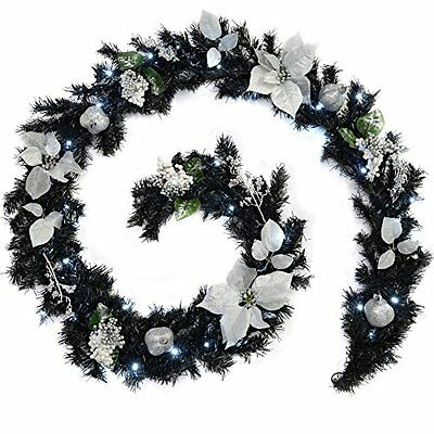 WeRChristmas 9 ft Decorated Pre-Lit Garland Christmas Decoration with 40 #7BU