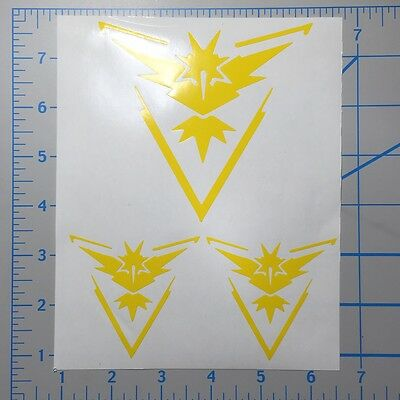 Free Shipping Pokemon Go Red Valor Set 4 & 2.5 Vinyl Decal Sticker Set furniture stickers Home, Furniture & DIY