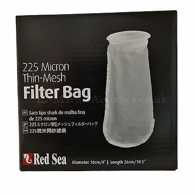 Red Sea 225 Micron Thin-Mesh Filter Bag / Filter Sock 4""