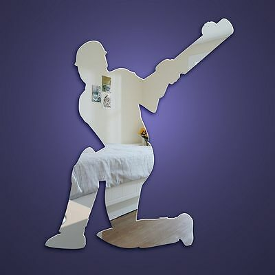 Cricketer Acrylic Mirror Shatterproof and Safe  Size 45 and 60cm