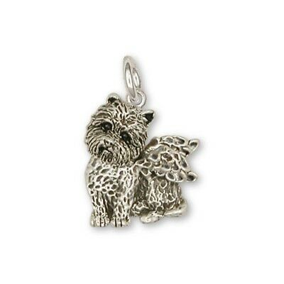 Sterling Silver Cairn Terrier Angel Charm Jewelry CWT7AC