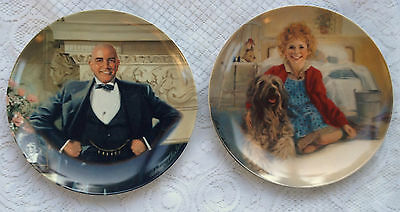 2 Collector Plates Anne & Sandy/Daddy Warbucks - William Chambers (47)