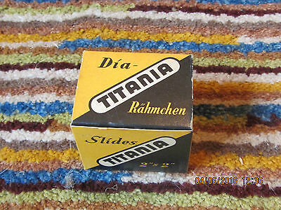 "Box of 20 Titania 2"" x 2"" Glass Slide Mounts, new 'old' stock, NEAR MINT ORIGINA"