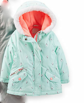 Carter's Infant Girl's Penguin~Polka Winter Snowsuit Jacket (Only) 12M NWT