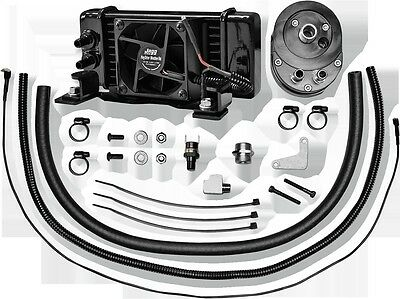 Horizontal Low-Mount 10 Row Fan-Assisted Oil Cooler Kit Black Jagg 751-FP2300