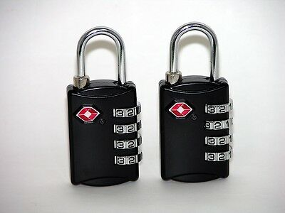 2 4 dial resettable combination TSA Case Luggage Travel Lock fits Pelican Case