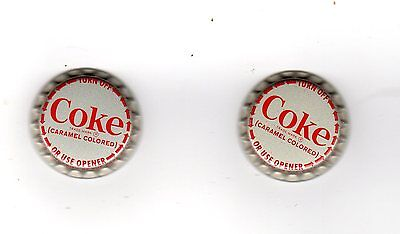Coca-Cola /coke  Bottle Cap / 2 / Circa 1970 Unused Plastic Lined