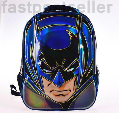 "17.5"" Jumbo Batman 3D Boys Kids Large School Backpack Rucksack Shoulder Bag Gift"