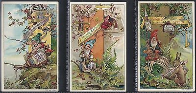Liebig-*s0590*-Full Set Of 6 Cards- Belgium - The World Of Gnomes
