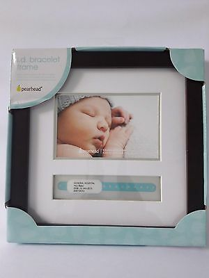 Pearhead White Hospital I.D. Bracelet Baby Picture Frame