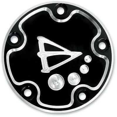 Points Cover Black Battistinis Custom Cycles 03-203