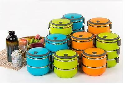 1-4 Layers Stainless Steel Lunch Box Thermal Insulated New Container Handle Food