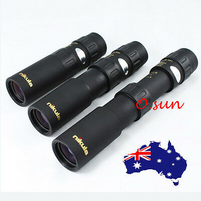 New Black NIKULA 10-30X25 Zoom Sports Camping Fishing Monocular Binoculars