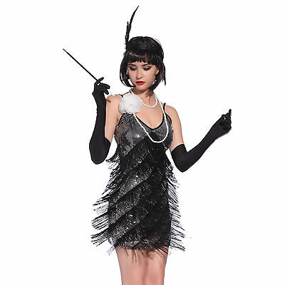 Ladies Roaring 1920s Charleston Flapper Chicago Gatsby Fancy Dress Party Costume