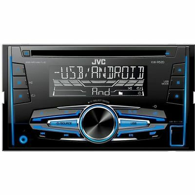 JVC KW-R520 Double 2 Din FM AM Radio CD Aux USB MP3 Flac Android Car Stereo