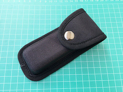 High Quality Black Nylon Sheath For Folding Pocket Knife Pouch with Button Case