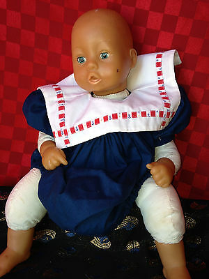 RARE BAYER DOLL 18 Inch-SAILOR OUTFIT-CLEAN-EYES OPEN AND CLOSE-ADORABLE