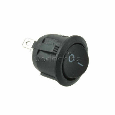 20PCS Mini Round Black 3 Pin SPDT ON-OFF Rocker Switch Snap-in