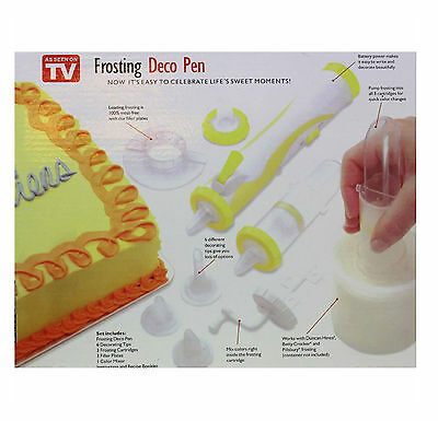 Frosting Deco Pen Cake, Cookie Cupcake Decorating Piping Tool Automatic Battery