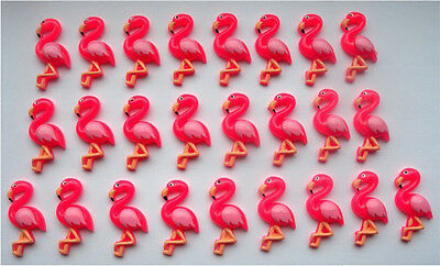 Wholesale - 25 Gorgeous Pink Flamingo Resin Flatbacks Cabochons - Fast Shipping