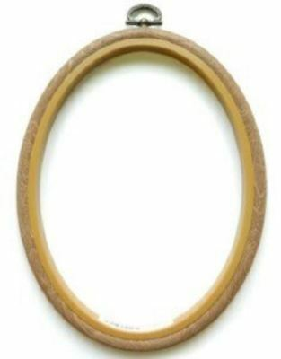 Oval Woodgrain Effect Flexi Hoops - Choice of Sizes