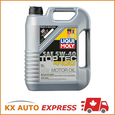 Liqui Moly Top Tec 4100 SAE 5W-40 Fully Synthetic Engine Oil 5L 2330