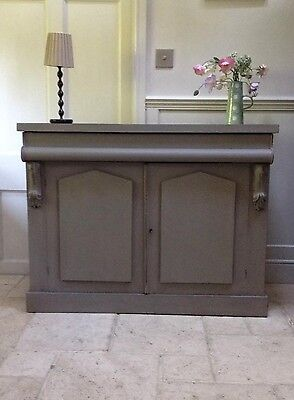 Antique Painted Sideboard French Style Chiffonier Grey Server Cupboard