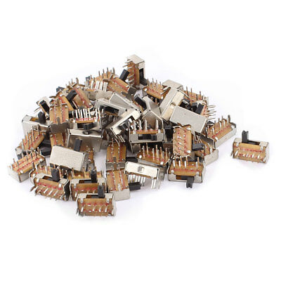 50 Pcs 8Pin PCB Mount 3 Position On/Off/On DPDT Miniature Mini Slide Switch