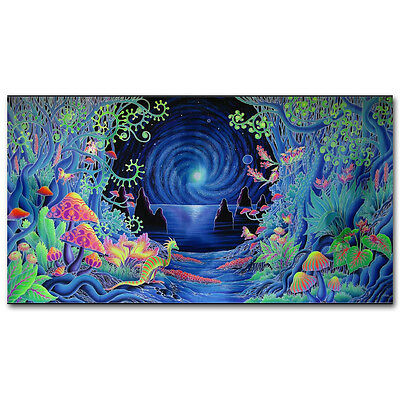 Trippy Psychedelic Art Fabric Poster 13x24inch 001
