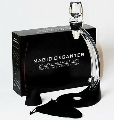 WS 10X Magic Decanter Essential RED Wine Aerator and Sediment Filter Gift Box WS
