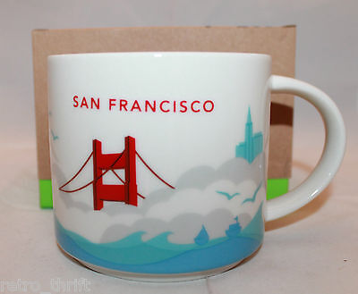 Starbucks Coffee You Are Here Collection San Francisco CA Mug Cup 14oz 414ml New