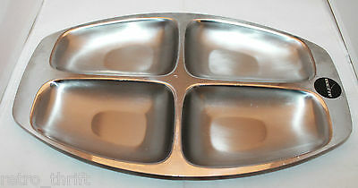 Alessi Italy Stainless Steel Inox 18/10 4 Divided Serving Tray Italian  AS-IS