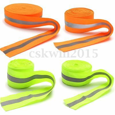"""2"""" Width High-Visibility Reflective Sew On Tape Strip Safty Yellow/Orange 5-50m"""