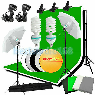 Photographie Photo Studio Éclairage continu Kit 4 backdrop Parapluie fond Stand