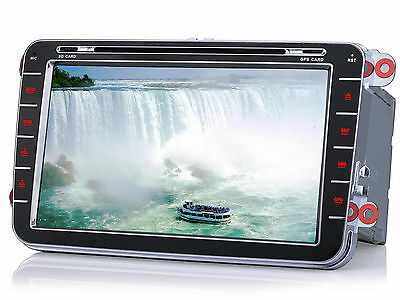 "8"" Autoradio GPS Bluetooth MP3 Navigation Für VW Golf  POLO 5 6 Jetta Tiguan EOS"