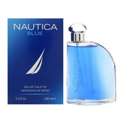 NAUTICA BLUE Cologne for Men 3.4 oz Eau de Toilette Spray, New In Box