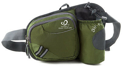 Waterfly Cycling Waist Bag Water Bottle Holder Running Belt Pouch ArmyGreen New