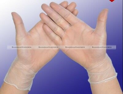 10 pairs Food PVC Family Medical Vinyl Disposable Gloves L/M/S S7