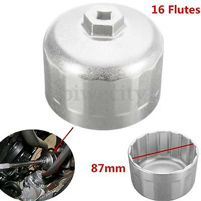 16 Flutes 87mm Inner Cartridge Cap Oil Filter Spanner Wrench Tool For BMW Volvo