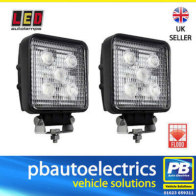 Pair of LED Autolamps LED Worklights / Worklamps 12/24v 1200 Lumens - 11015BM