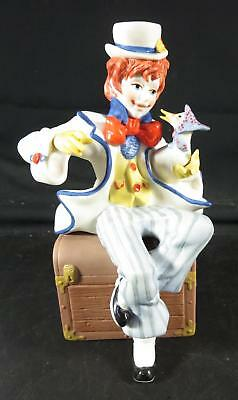 Cybis Clown with Goose, Jumbles Figurine 1985 Circus Collection