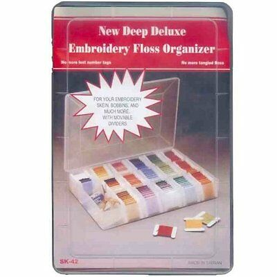 Deluxe Large and Deep  Embroidery Thread Organiser Box with Moveable Dividers