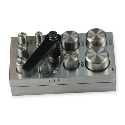 Circular punch disc adjustable jewellers cutter hole 11 punches tool sheet metal