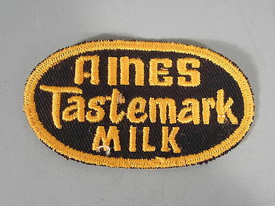 Aines Tastemark Milk Patch / New Old Stock of Closed Embroidery Co. / FREE Ship
