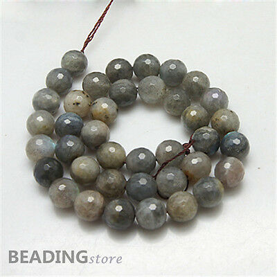 "3Strands 15.8"" Gray Colour Faceted Round Labradorite Beads 4mm about 90pc/strand"