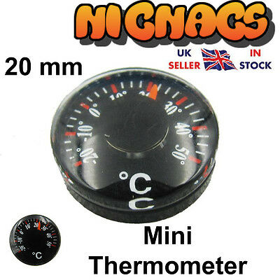 Mini Pocket Thermometer 20mm Ideal Car Office Shed Garden Room Kennel Greenhouse