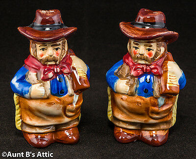 Salt & Pepper Shakers Vintage Cowboy Novelty Collectible Kitchen Table Set
