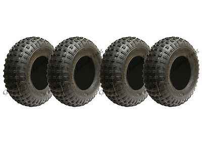 4 - 145/70-6 - knobby ATV tyre Quad trailer wheels 50cc 90cc 110cc Wanda 75 kgs