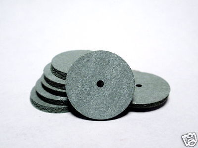 Small Green Rubber Polishing wheels for Dremel 425 Dental Jewelry 25 pieces